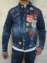 "DSQUARED2(ディースクエアード)【SCOUT PATCH DENIM JACKET】""STRETCH DENIM MEDIUM STORMY WASH""""ワッペン""付きDAN JEAN JACKET★"