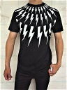"NeIL BarreTT(ニール バレット)【FAIRISLE THUNDERBOLT PRINT T-SHIRT】""SLIM REGULAR FIT""""サンダーボルト""プリントTee★BLACK★"