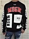"""MSGM(エムエスジーエム)【MSGM LEGACY LOGO】""""LOOSE FIT""""クルーネックスウェット★BLACK★"""