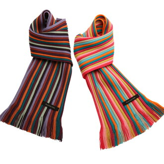 Matsui knit motor Museum-knit scarf for children