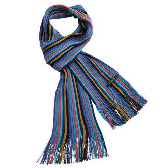 Matsui knit motor Museum knit scarf-adult blue