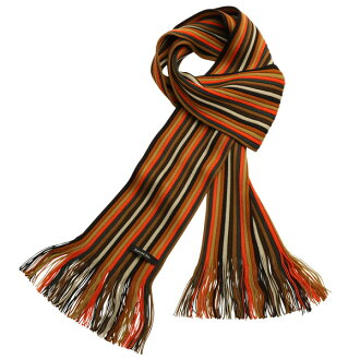 Matsui knit motor Museum-knit scarf adult for Brown