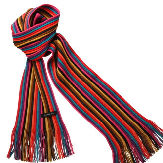 Matsui knit motor Museum-knit scarf (red)