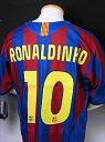 バルセロナ05-06レプリカユニフォーム ホーム用 半袖 ロナウジーニョ