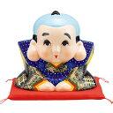 ● 縁起物 福助人形 赤座布団付き 6号サイズ