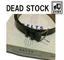 USA製 レザー ベルト ヴィンテージ デッドストック ギャリソン 革 黒