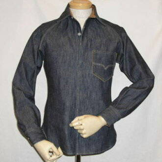 7640-40 S denim shirt - DELUXEWARE-デラックスウエア denim shirt