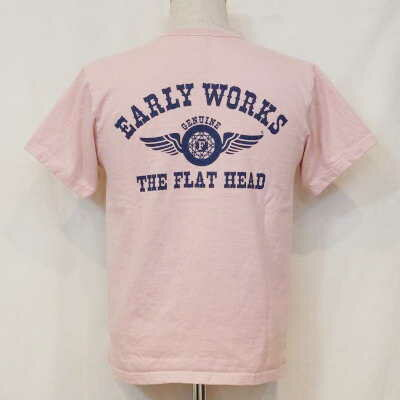 THC-66W-ライトピンク-EARLYWORKS-THC66W-FLATHEAD-フラットヘッドTシャツ【送料無料】【smtb-tk】【楽ギフ_包装】