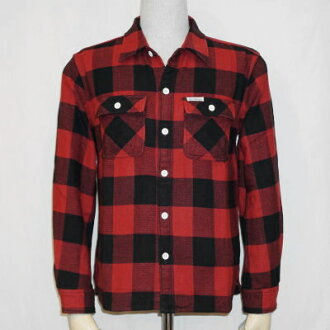 HN-52W-red, channel block check shirt 52-HN 52W-FLATHEAD-flat head t-shirt