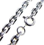 C0060 - 50厘米银链配件◆链中的杰出存在的唯一◆。硬顶适合大[シルバーチェーンシルバーアクセサリー◆c0060-50cm◆存在感バツグンのシルバーチェーン。大きめなハードトップに合います]