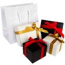 ギフトボックス プレゼント so0000 有料ラッピング リボンを巻いた光沢のあるボックスに手提げ袋付き