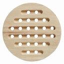 送料無料 木目鍋敷 丸 12個セット 鍋敷き 鍋しき なべしき なべ敷き キッチン用品 カフェ