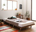 ローベッド フロアベッド 木製 ベッド ショート丈 デザインボードベッド キャタルパスチール脚タイプ(ショート丈フレーム:セミシングル)+(マットレス:セミシングル)マットレスの種類:スタンダードポケットコイルマットレス付き (送料無料) 040121668