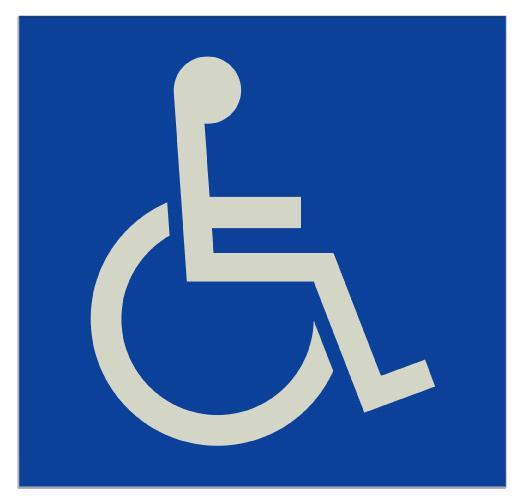 Senal Baño Minusvalidos:楽天市場】よく光る・反射身障者(車椅子