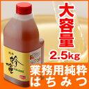 業務用純粋はちみつ 大容量2.5kg  中国産 蜂蜜 はちみつ   純粋蜂蜜