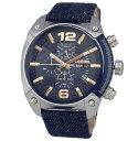 DIESEL ディーゼル メンズ腕時計 DZ4374 OVERFLOW オーバーフロー ブルーデニム ネイビー 【RCP】 02P12Oct15