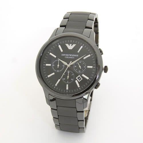 EMPORIO ARMANI エンポリオアルマーニ メンズ腕時計 セラミック素材のオールブラック・クロノグラフウオッチ AR1451 【RCP】 EMPORIO ARMANI エンポリオアルマーニ メンズ腕時計 AR1451
