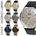 ヘンリーロンドン 時計 メンズ レディース HENRY LONDON 41mm ユニセックス