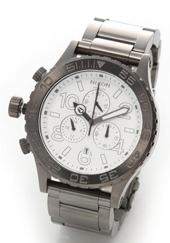 NIXON ニクソン メンズ 腕時計 4220 (フォーティーツートゥエンティー クロノグラフ)メンズ ブレスウオッチ(ガンメタル)A037486 A037-486 【RCP】 02P12Oct15 NIXON ニクソン THE 42-20 ユニセックス腕時計 A037486