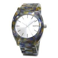 NIXONニクソンメンズ腕時計レディース腕時計THETIMETELLERACETATEタイムテラーアセテートウォーターマーブル×シルバーA327-1116