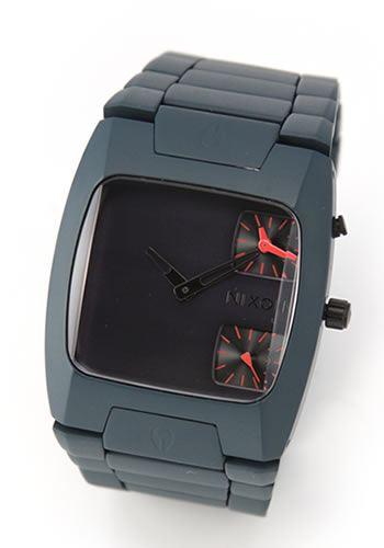NIXON ニクソン メンズ腕時計 THE BANKS (バンクス) デュアルタイム ミリタリーテイスト ガンシップカラー A060690 A060-690 【RCP】 02P12Oct15