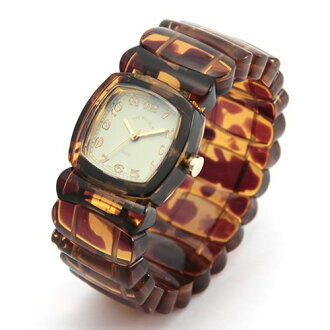 Time Will Tell タイムウィルテル ( タイムウイルテル ) pop watch Solid Colors tortoise ( tortoiseshell ) pattern modern & vintage Bangle, breath and watch Solid-TO (I)