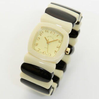Time Will Tell time will tell (time will tell) Watch Multi Colors ivory & black mixed color modern & vintage pop Bangle, breath and watch Multi-IVBL 02P04Jul1502P08Feb15