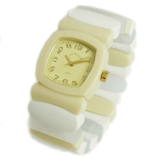 Time Will Tell タイムウィルテル ( タイムウイルテル ) watch Multi Colors monotone color ivory mix modern & vintage pop Bangle, breath and watch Multi-MOIV