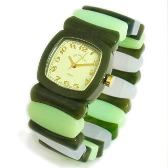 Time Will Tell time will tell (time will tell) Watch Multi Colors marble green and Rainbow modern & vintage pop Bangle, breath and watch Multi-VMRA 02P08Feb15