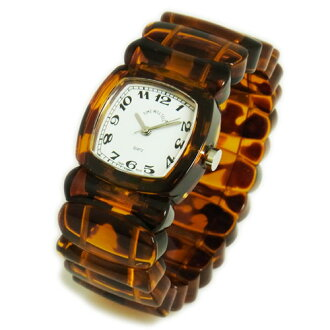 Time Will Tell タイムウィルテル ( タイムウイルテル ) watch Solid Colors tortoise ( tortoiseshell ) pattern Bangle, breath and watch Solid-TO (W) 02P01Jun14