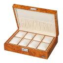 LUHW(ローテンシュラガー) 木製 腕時計ケース 8本収納 LU51010RW 薄木目 ウォッチケース ライトウッド 時計ケース