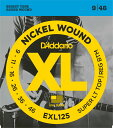 *【メール便対応、代引き不可】【ダダリオ エレキギター弦】スーパーライトトップ,レギュラーボトム D'Addario EXL-125(EXL125)