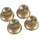 【Gibson】【ノブ】Top Hat Style - Gold W/ Gold Metal Insert 2 Volume (PRMK-030)