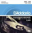 【D'Addario (ダダリオ)】【バンジョー弦】フォスファー Light 5弦 .009-.020 EJ69
