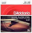 【D'Addario (ダダリオ)】【マンドリン弦】ニッケル Medium .011-.039 EJ67