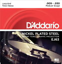 【D'Addario (ダダリオ)】【バンジョー弦】テナーバンジョー弦 ニッケル Medium 4弦 .009-.030 EJ63