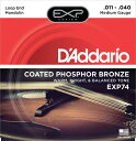 【D'Addario (ダダリオ)】【マンドリン弦】EXP74 EXP Coated PhosphorBronze - Medium