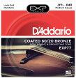 【D'Addario (ダダリオ)】【マンドリン弦】EXP77 EXP Coated 80/20 Bronze - Medium
