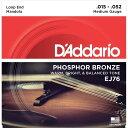 【D'Addario (ダダリオ)】マンドラ弦 フォスファーブロンズ Medium .015-.052 EJ76