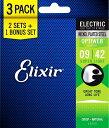 エレキギター弦 2セット+1ボーナスセット OPTIWEB Super Light .009-.042 #16550 (19002 3個セット)