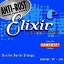 【メール便発送、代引き不可】【Elixir(エリクサー) エレキギター弦】ナノウェブ ミディアム #12102