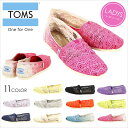 TOMS Crochet トムス スリッポン レディース クロシェット [Crochet Women's Classics] 【 トムス トムズ 花柄 靴 シューズ クラシック ナチュラル BLACK 】 [evi]