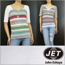 JET / John Eshaya ジェット Tシャツ MULTI STRIPE PULLOVER 【2500】