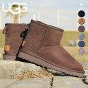 UGG ブーツ レディース CLASSIC MINI II 1016222 ムートンブーツ クラシック ミニ 秋冬 ムートン シープスキン ブラック/チェスナット/..