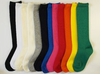 Plain solid color kids knee socks made in Japan find 3 feet 1050 yen