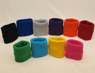 Soft Terry wristband solid color 1 180 Yen