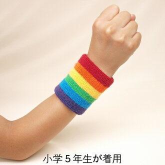 Soft Terry wristband Rainbow colors in 1 300 yen