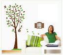 ウォールステッカー【小鳥の集まる木】インテリア・寝具・収納 インテリアファブリック(クッション・テーブルクロス・布装飾)