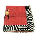 ショッピング本 超美品 BVLGARI ブルガリ スカーフ シルク 赤 黒 ベージュ アパレル 小物【本物保証】【中古】