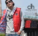 CLH【シーエルエイチ】中綿ベスト メンズ ナイロンB系 ファッション メンズ ヒップホップ ストリート系 ファッション HIPHOP